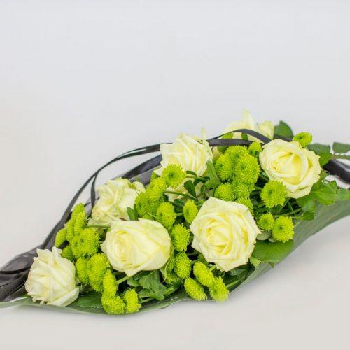 Käsileinakimp rohelise valgega - Kolm lille lillepood